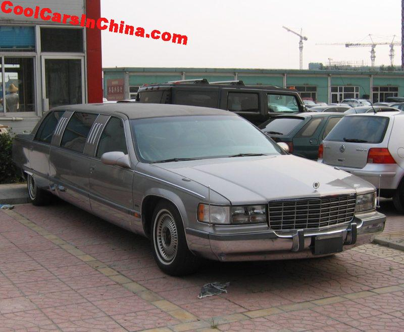 cadillac fleetwood stretched limousine is grey in china